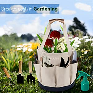 garde tools in gardening scene