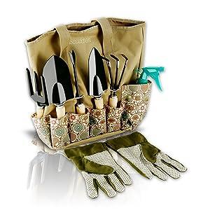 Amazoncom Scuddles Garden Tools Set 8 Piece Gardening tools