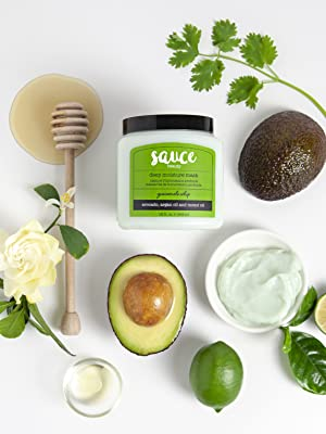 Guacamole hair mask scalp treatment for shiny moisturize hair