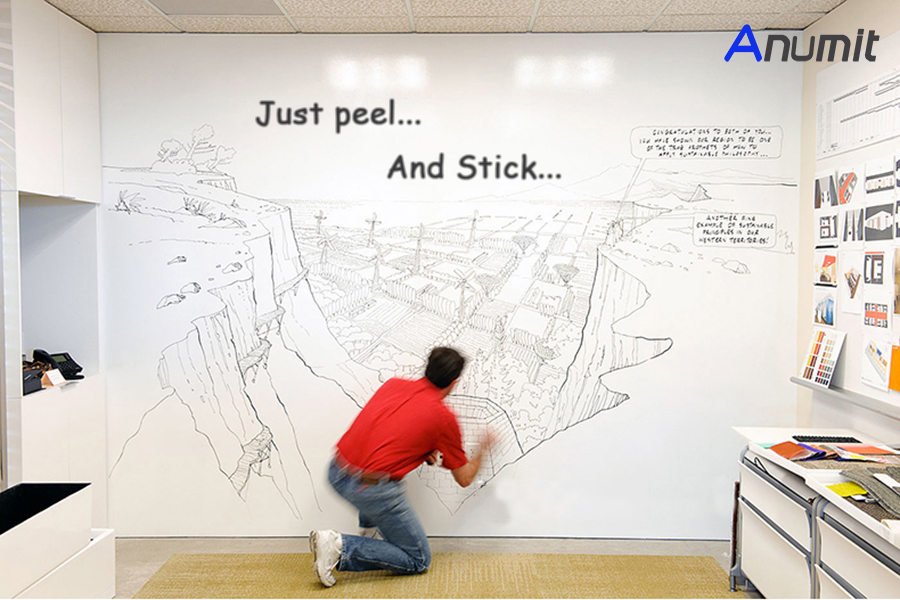 Bon Self Adhesive Whiteboard Wall Decals(1 Water Pen)