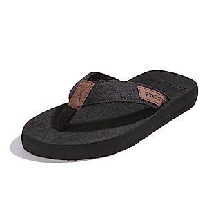 black flip flops mens