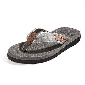 grey mens flip flops