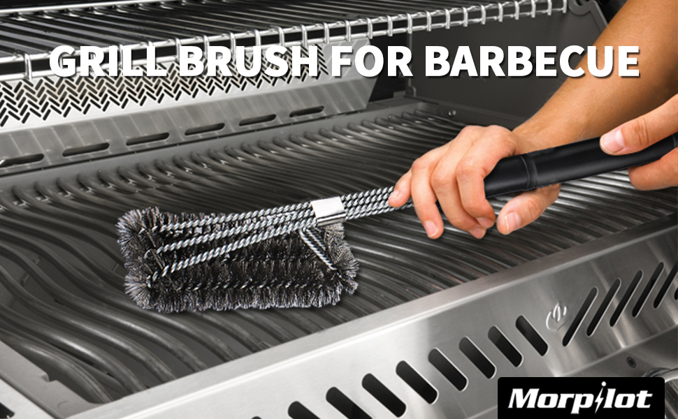 Amazon.com : Keenstone BBQ Brush, 18 inches 3 in 1 BBQ Brush Cleaner ...