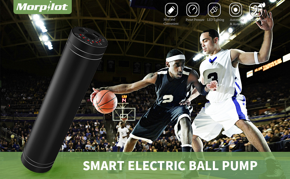 reputable site e68cc 8e941 Morpilot Intelligent Pressure Detection and Stop Ball Pump, Professional Air  Pumps for your Football, Rugby Ball, Volleyball, Basketball, Handball and  other ...