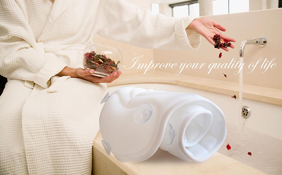 Amazon Com Full Body Spa Bath Pillow Mat Bathtub