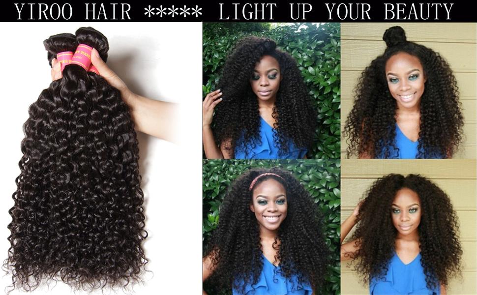 Amazon Yiroo 7a Virgin Brazilian Curly Hair 3 Bundles Human
