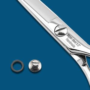 Scissors tesion screw