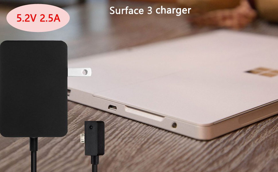 Amazon.com: Surface 3 charger, bolweo 5.2 V/2.5 A 13 W ...