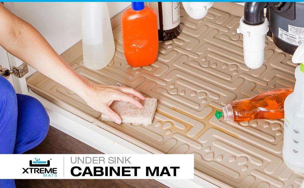 Amazoncom Xtreme Mats Under Sink Kitchen Cabinet Mat 33 58 X 21