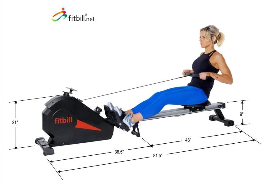 Amazon Com Fitbill B607 Smart Rowing Machine Aerobic