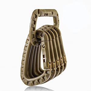 Khaki tactical carabiner