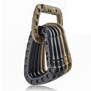 Khaki&Black tactical carabiner