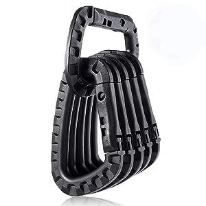 black tactical carabiner