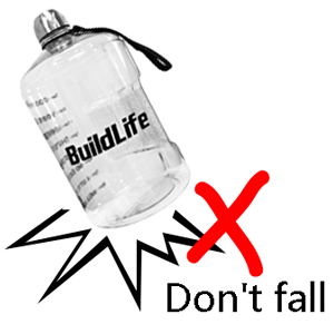 Not resistant to falling  BuildLife 1 Gallon Water Bottle Motivational Fitness Workout with Time Marker/Drink More Daily/Clear BPA-Free/Large 128OZ /73OZ /43OZ Capacity efb825b1 34d6 4a64 a896 322fac71adbf