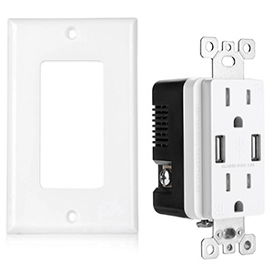 usb charger wall outlet receptacle