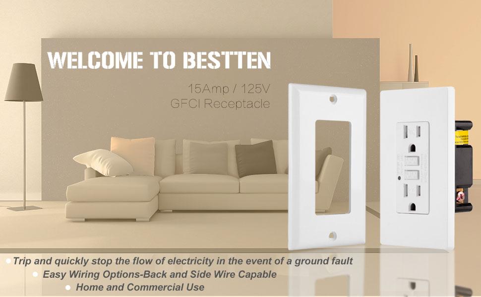 Magnificent 10 Pack Bestten Gfci Outlet 15A 125V 1875W Tamper Resistant Wiring 101 Carnhateforg