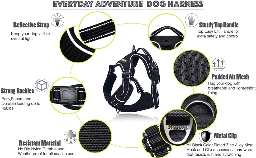 front walking no pull dog harness large breed xl medium husky harness for walking vest harness