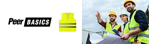 Safety Vest mesh knitted pocket