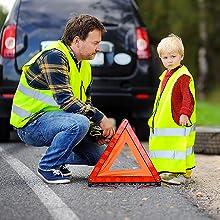 Road safety child vest adult vest visibility high