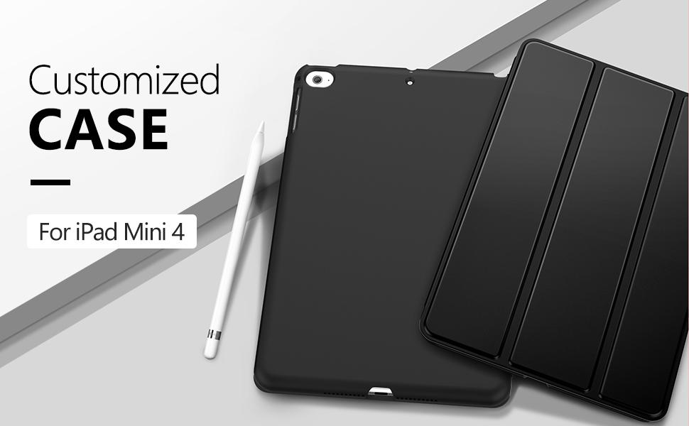 MoKo Case Fit iPad Mini 4 - Slim Lightweight Smart Shell Stand Cover Case with Auto Wake/Sleep Fit Apple iPad Mini 4 (2015 Edition) 7.9 inch iOS ...