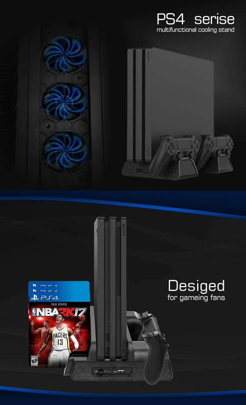 Amazon.com: MoKo PS4/PS4 Slim/PS4 Pro multifuncional Cooling ...