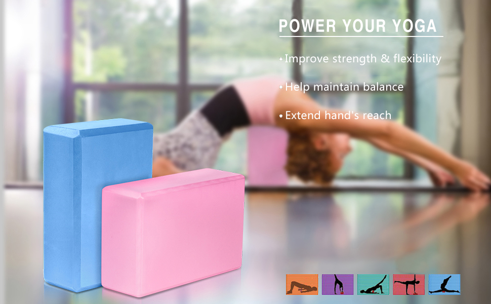 MoKo Yoga Blocks 2 Pack, 9