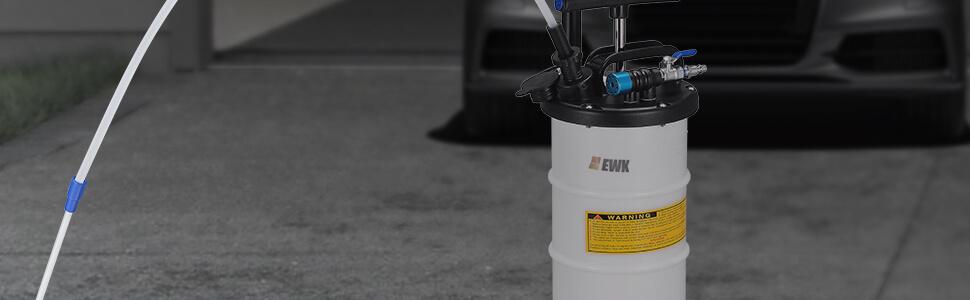 EWK 5.3 x 6.7 mm Nylon Hose 1M Long for Pneumatic Manual 6.5 /& 15 Liters Oil Changer Vacuum Fluid Extractor Pump