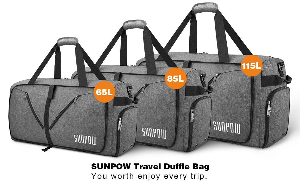 f4c5a2eb8f55 65L Foldable Travel Duffle · 85L Large Foldable Travel Duffle · 115L Extra  Large Packable Duffle