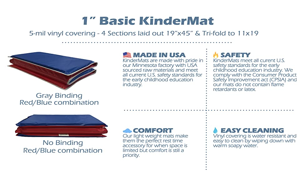 Amazon Com Kindermat 1 Inch And 1 5 Inch Basic Rest Mat