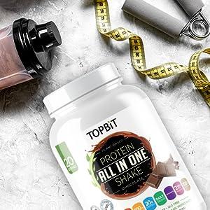 topbit, protein shake, all in one shake, chocolate protein shake,