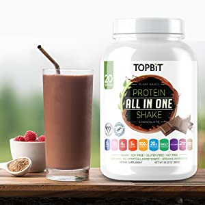 topbit, protein, all in one shake, chocolate shake, protein shake