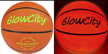 Real Basketball that illuminates using LED Lights