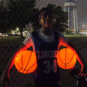 Light up Basketballs  GlowCity Rim kit