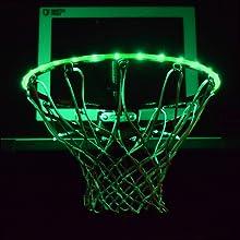 GlowCity Light up rim kit Glow in the dark Basketball LED Basketball