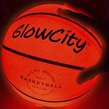 Premium Light Up Basketball using LED lights to illuminate the entire ball