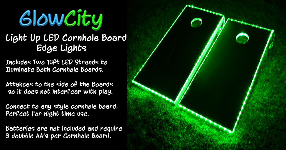 light up cornhole board kit is a perfect accessory for your game boards this kit is meant to fit all boards on the market turning them into the