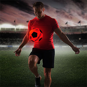 GlowCity light up led glow in the dark night sports soccer ball