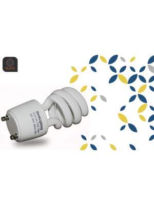 CFL bulb wiht a logo