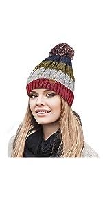 rainbow winter hat