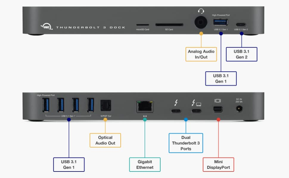 Amazon.com: OWC 14-Port Thunderbolt 3 Dock with Cable ...