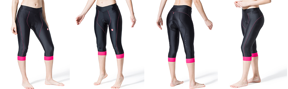 Women/'s Cycling Pants 3//4 Bicycle Capris Pants Bike 3//4 Tight with 3D Multi D SK