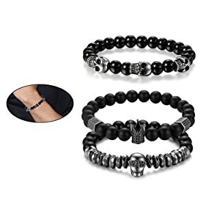 Men Link Bead Bracelet