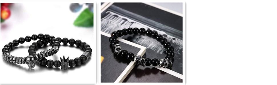 Men Link Bead Bracelet for Christmas