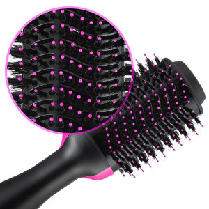 Hot Comb One Step Ceramic 2-in-1 Infrared Negative Iron Straightening Lightweight Styling Hair Dryer