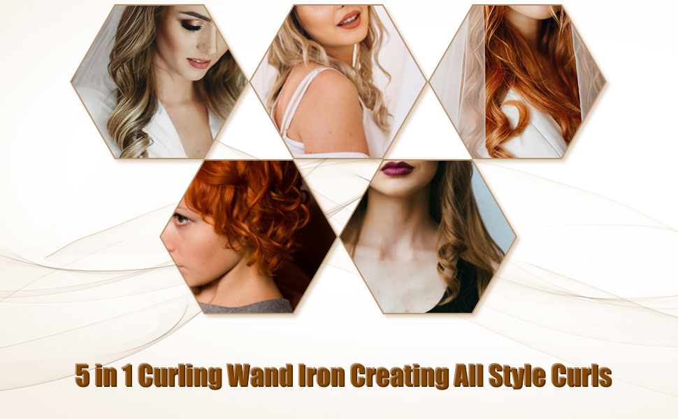 Hair curling iron wand hair curler curling wand and hair curler