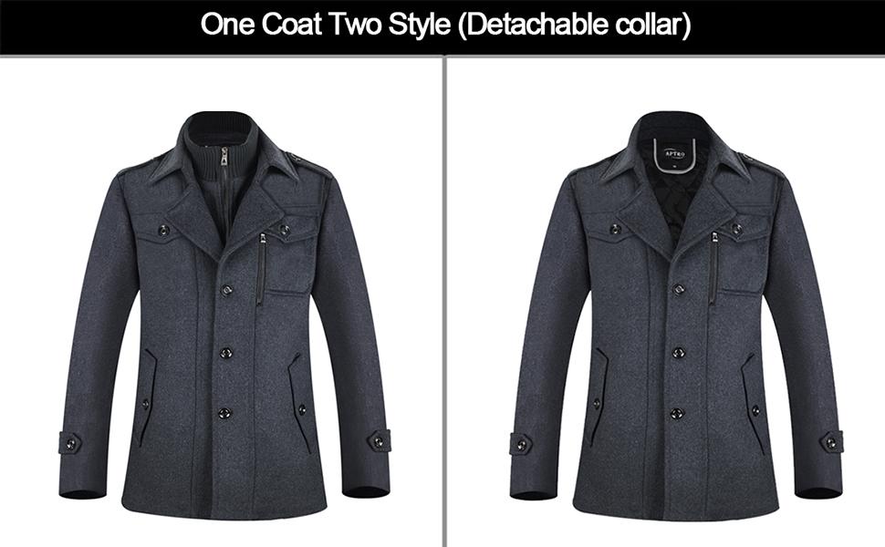 wool coats men pea coat