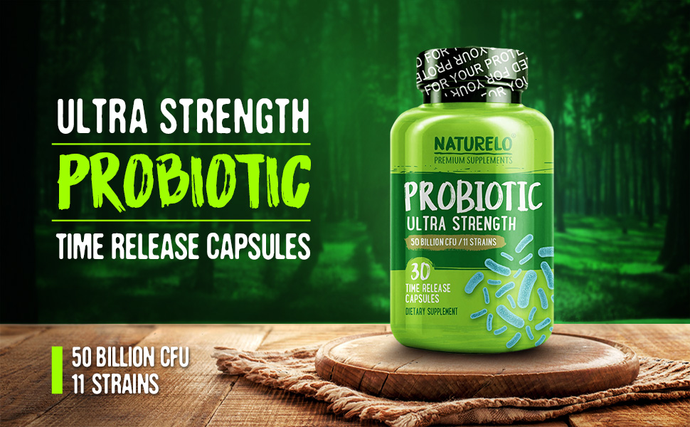 Ultra Strength Probiotic Time Release Capsules