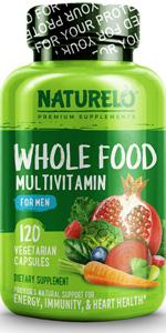 NATURELO Whole Food Multivitamin for Men
