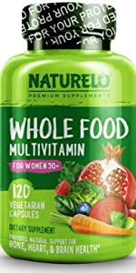 NATURELO Whole Food Multivitamin for Women 50