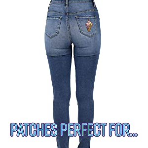 denim bags and jeans Unicorn Ice Cream Cone Embroidered Patch for jackets sweatshirts
